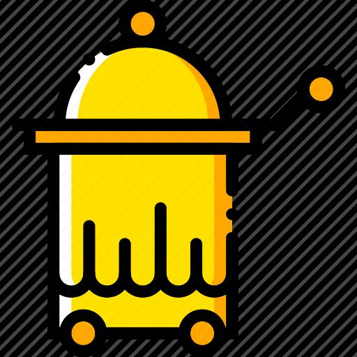 journey, room, service, travel, voyage, yellow icon