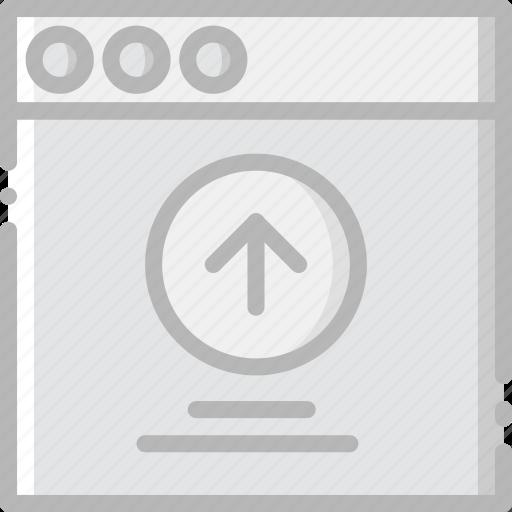 communication, interface, message, upload, user icon
