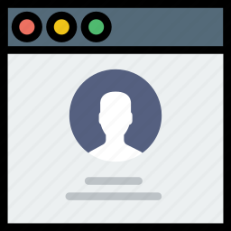 communication, interface, page, profile, user icon