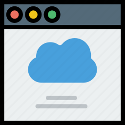 cloud, communication, interface, user icon