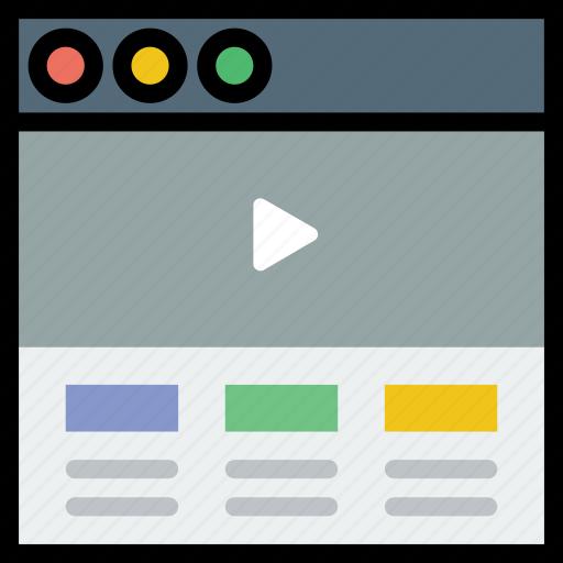 communication, header, hero, interface, user, video icon