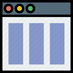 columns, communication, content, interface, user icon