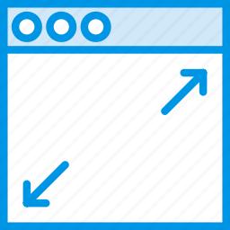 communication, expand, interface, user, window icon