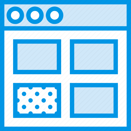 communication, grid, interface, user icon