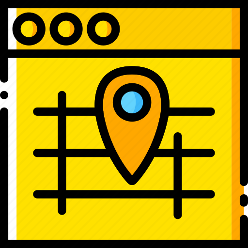 communication, interface, map, user icon