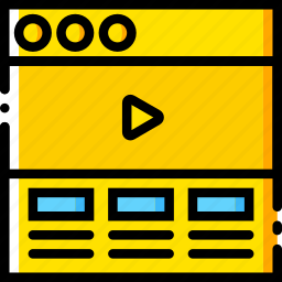 communication, header, hero, interface, user, video icon