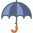 clouds, forecast, sun, umbrella, weather icon