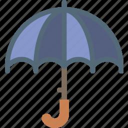 clouds, forecast, sun, umbrella, weather icon
