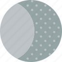 cycle, forecast, gibbous, moon, waxing, weather icon