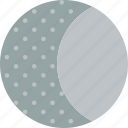 crescent, cycle, forecast, moon, waxing, weather icon