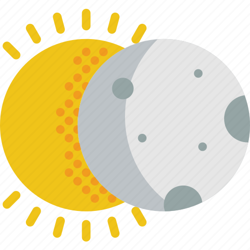 clouds, eclipse, forecast, solar, sun, weather icon
