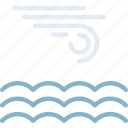 calm, clouds, forecast, sea, sun, weather icon
