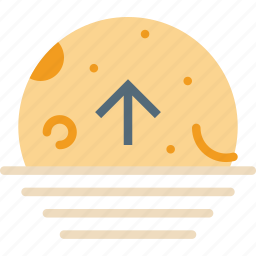ascending, cycle, forecast, moon, weather icon