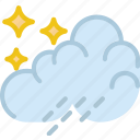 clouds, forecast, night, rain, sun, weather icon