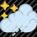 clouds, forecast, night, rain, sun, weather