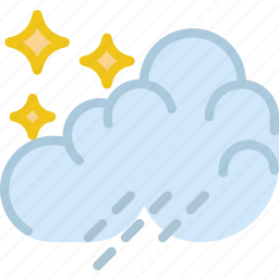 clouds, forecast, night, rain, sun, weather icon