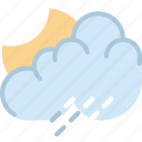 clouds, forecast, night, rainy, sun, weather icon