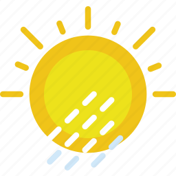 clouds, forecast, precipitations, sun, weather, with icon