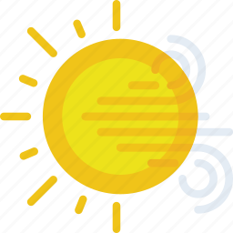clouds, forecast, sun, sunny, weather, windy icon