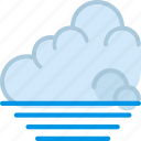 clouds, forecast, low, sun, tide, weather icon