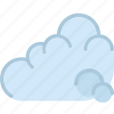 clouds, cloudy, forecast, sun, weather icon