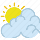 clouds, cloudy, day, forecast, sun, weather icon