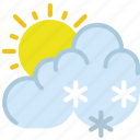 clouds, drizzle, forecast, sun, weather