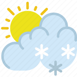 clouds, drizzle, forecast, sun, weather icon