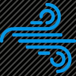 forecast, rain, weather, webby, wind, windy icon