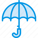 forecast, rain, umbrella, weather, webby icon