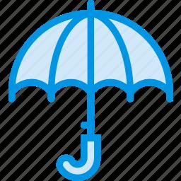 forecast, rain, umbrella, weather, webby icon
