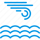 calm, forecast, rain, sea, weather, webby, wind icon