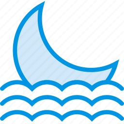 forecast, moon, night, seaside, sky, weather, webby icon
