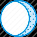 cycle, gibbous, moon, sky, waning, weather, webby icon