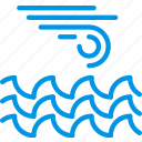 forecast, ocean, rain, storm, weather, webby, wind icon