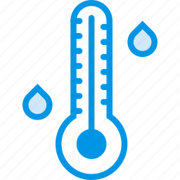 forecast, high, temperature, thermometer, weather, webby icon