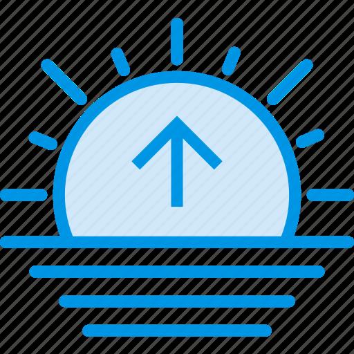 forecast, sea, sun, sunrise, weather, webby icon