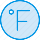 cold, fahrenheit, forecast, hot, weather, webby icon