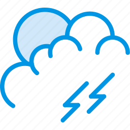 clouds, forecast, lightning, morning, storm, weather, webby icon