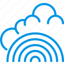 clouds, forecast, fresh, rainbow, weather, webby icon