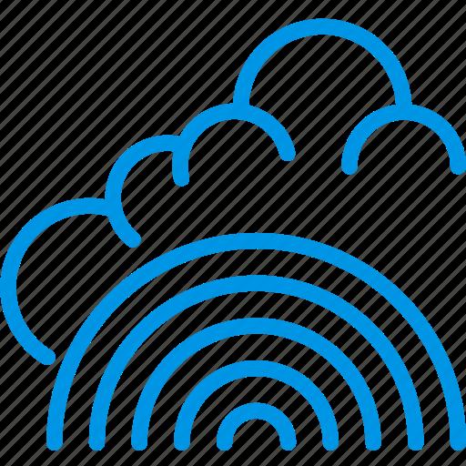clouds, forecast, fresh, rainbow, weather, webby icon