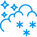 clouds, forecast, night, snow, weather, webby icon