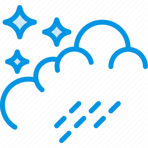 clouds, forecast, night, rain, weather, webby icon