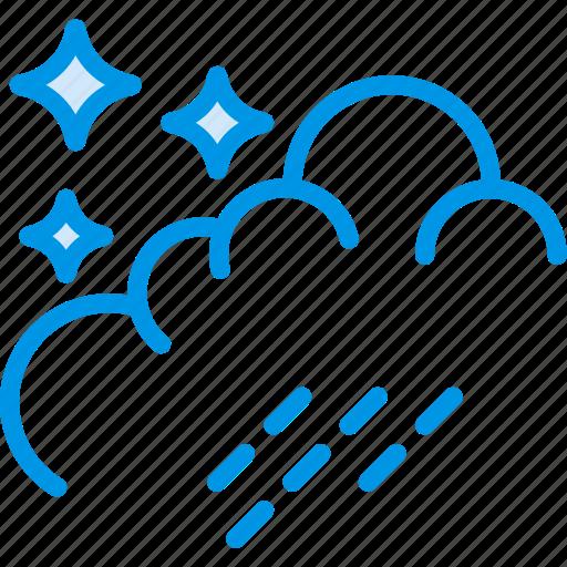 clouds, forecast, night, rain, weather, webby icon