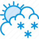 drizzle, forecast, snow, sun, weather, webby icon