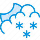 clouds, forecast, night, snow, snowy, weather, webby icon