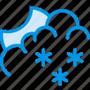 clouds, forecast, night, snow, snowy, weather, webby