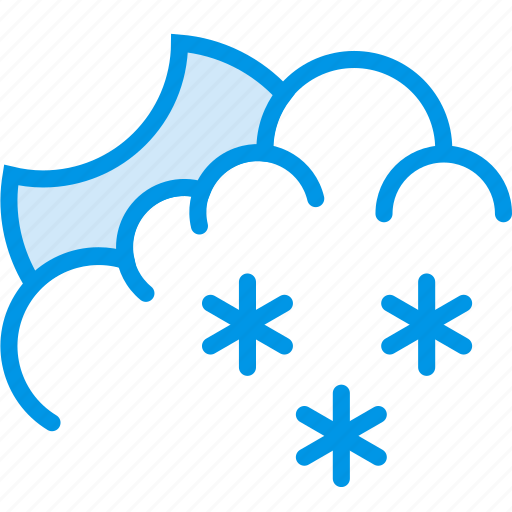 clouds, forecast, night, snow, snowy, weather, webby icon