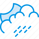 clouds, forecast, moon, night, rainy, weather, webby icon