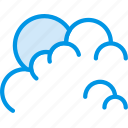 cloudy, forecast, morning, sun, weather, webby icon